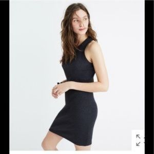 Madewell Celine Gray Ribbed Tank Dress